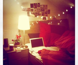 bed, laptop, and room image