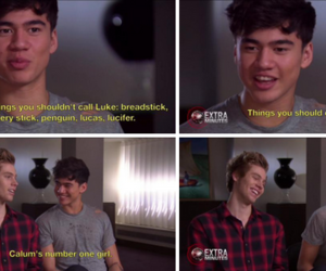 luke hemmings, 5sos, and calum hood image