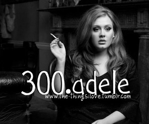 Adele, black and white, and things i love image