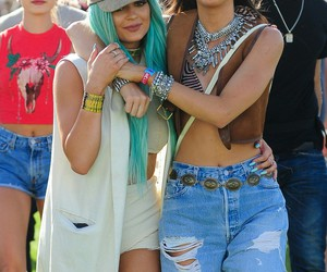 coachella, kylie jenner, and kendall jenner image