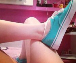 beautiful, blue, and vans image