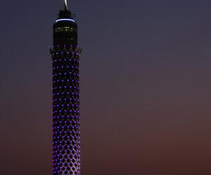 cairo tower at night image
