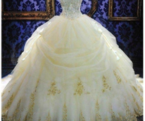 ball gown, couple, and dress image
