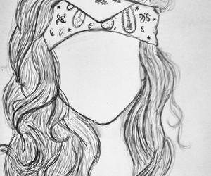 bandana, black, and girl image