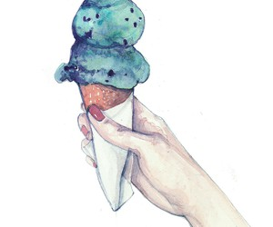 art, drawing, and icecream image