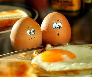 eggs, friends, and laught image
