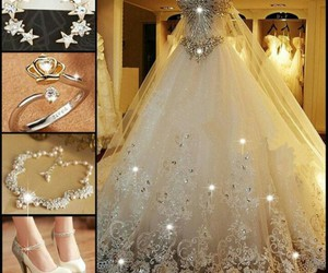 dress, jewelry, and shoes image