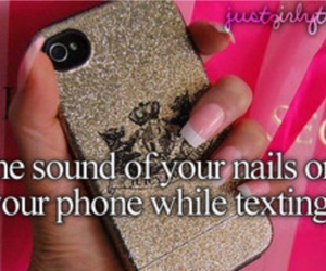 phone, nails, and sound image