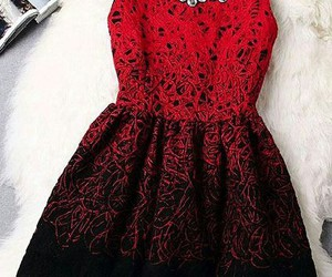 dress, beautiful, and red image