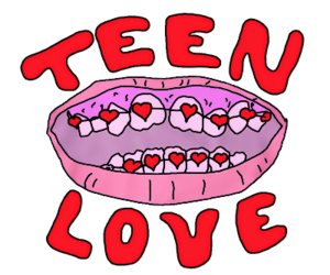 mouth and teen love image