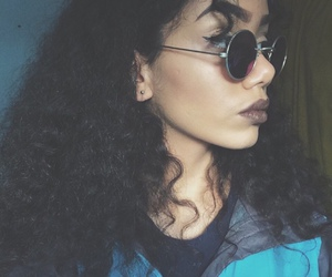 curly hair, fashion, and girl image