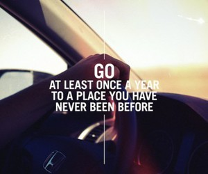 travel, quotes, and go image