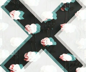 x, flowers, and roses image