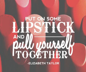 lipstick, quote, and wallpaper image