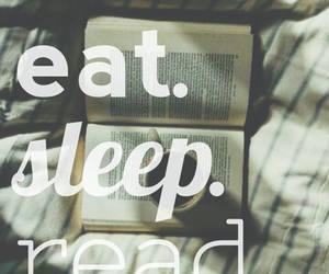 read, sleep, and eat image