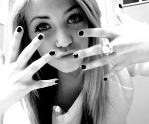 girl, blonde, and nails image