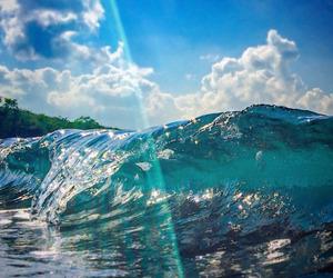 sun, blue, and sea image