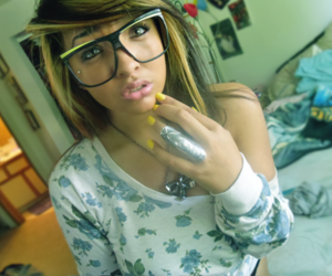 swag, pretty, and glasses image