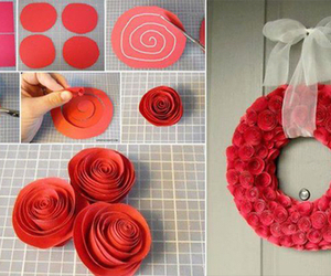 diy, red, and flowers image