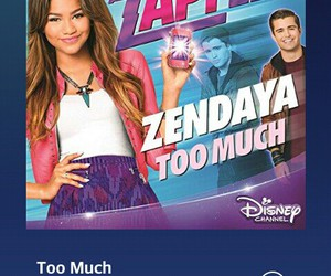 too much, disney channel, and zapped image