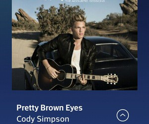 guitar, cody simpson, and pretty brown eyes image