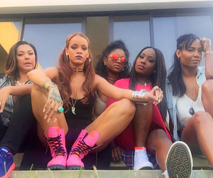 rihanna, squad, and friends image