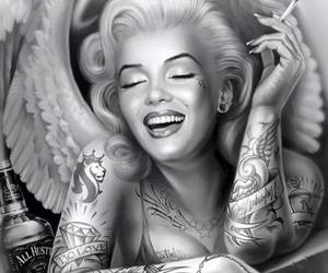 Marilyn Monroe and tattoo image