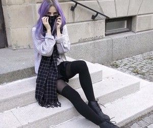 black, boots, and hair image