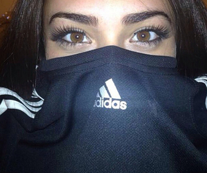 adidas, girl, and eyes image
