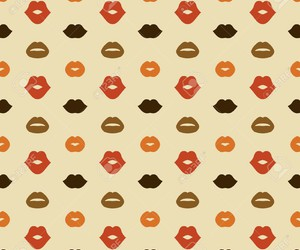 background, kisses, and pattern image