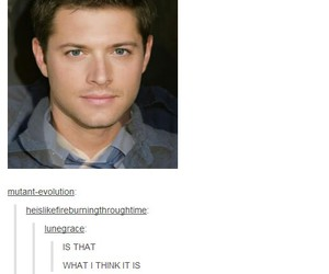 face, Jensen Ackles, and weird image