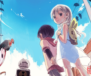 adorable, blue sky, and boy image