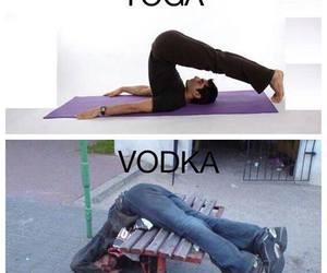 lol, vodka, and yoga image