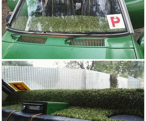 car, grass, and creative image