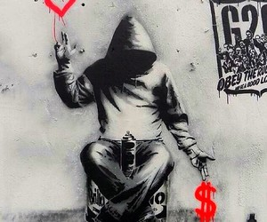 BANKSY, art, and money image