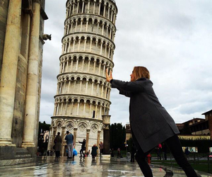 italy, girl, and Pisa image
