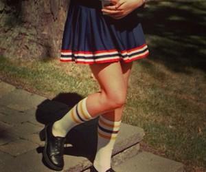 cheerleader, school, and uniform image