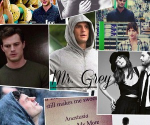 Collage, grey, and christian grey image