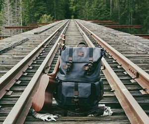 travel, adventure, and bag image