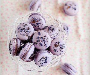 sweet, food, and macarons image