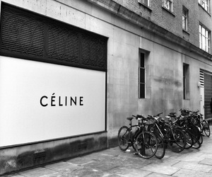 celine and black and white image