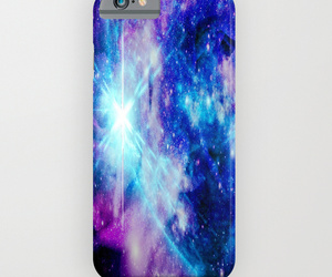 beautiful, blue phone, and iphone case image