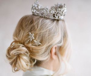wedding, beautiful, and hair image
