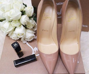 shoes, chanel, and flowers image