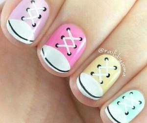 nails, nail art, and shoes image
