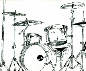 art, drawing, and drums image
