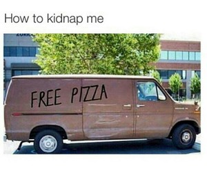 pizza, funny, and me image