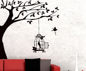 bird, home decor, and murals image