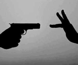 gun, quote, and world image