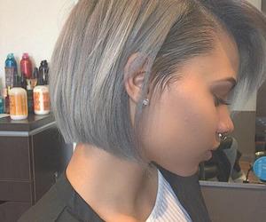 bob haircut, fashion, and grey hair image